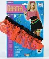Goedkope neon oranje kousenband dames