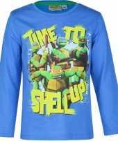 Goedkope ninja turtles t shirt blauw