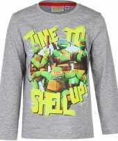 Goedkope ninja turtles t shirt grijs