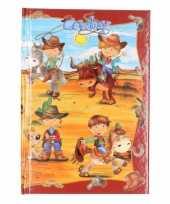 Goedkope notitieboekje harde kaft cowboy