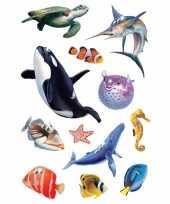 Goedkope oceaan dieren stickers vel