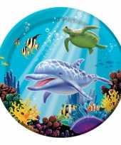 Goedkope oceaan thema feestbordjes stuks