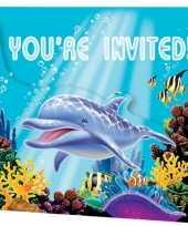 Goedkope oceaan thema uitnodigingen stuks