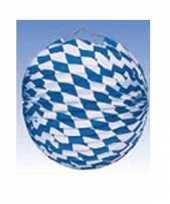 Goedkope oktoberfest lampion blauw wit