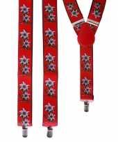 Goedkope oktoberfest rode edelweiss bretels bloemen