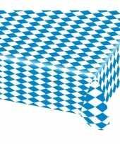 Goedkope oktoberfest tafelkleed blauw wit