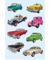 Goedkope oldtimers auto stickers vellen