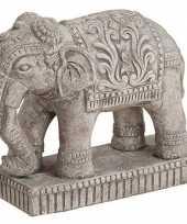 Goedkope olifant dieren beeldje grijs woondecoratie