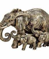 Goedkope olifanten dieren beeldje goud woondecoratie