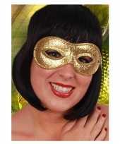 Goedkope oogmasker goud glitters