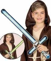 Goedkope opblaasbaar laser zwaard blauw