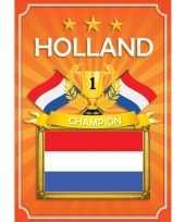 Goedkope oranje holland poster
