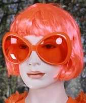 Goedkope oranje mega zonnebril