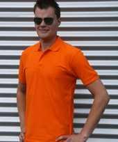 Goedkope oranje poloshirt katoen