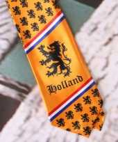 Goedkope oranje stropdas kleine leeuwtjes