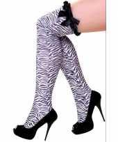 Goedkope overknee kousen zebra goedkope