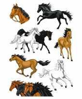 Goedkope paarden folie glitter stickers vel