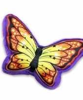 Goedkope paars oranje vlinderkussen