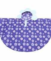 Goedkope paarse bloemen poncho meiden