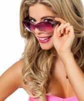 Goedkope paarse feestbril glitters