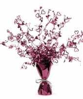 Goedkope paarse folie tafeldecoratie