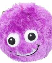 Goedkope paarse pluche bal gezicht