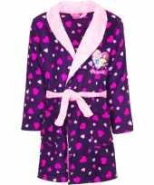 Goedkope paarse princess badjas capuchon meisjes