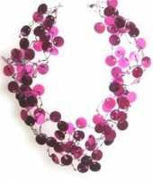 Goedkope pailletten ketting roze