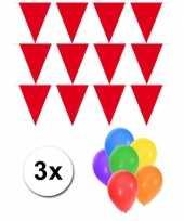 Goedkope pakket vlaggenlijn xl rood incl gratis ballonnen