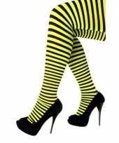 Goedkope panty gestreept geel zwart