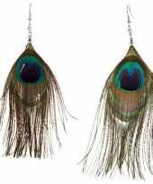 Goedkope pauwenveren oorbellen
