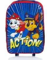 Goedkope paw patrol handbagage reiskoffer trolley kinderen