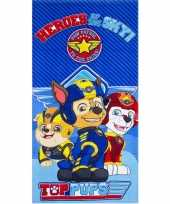 Goedkope paw patrol heroes badlaken strandlaken blauw