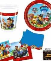 Goedkope paw patrol kinderfeestje versiering tafel pakket pers kaart
