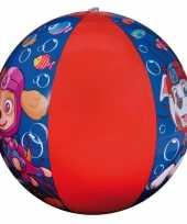 Goedkope paw patrol opblaasbare speelgoed strandbal blauw rood