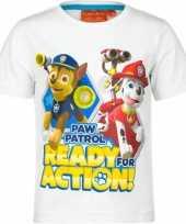 Goedkope paw patrol t shirt wit kinderen