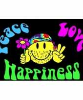 Goedkope peace love happiness vlag
