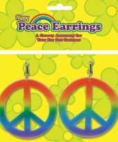 Goedkope peace oorbellen