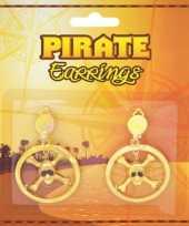 Goedkope piraten oorbellen doodshoofdjes
