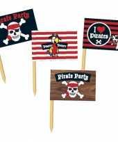 Goedkope piraten prikkertjes pirate party stuks