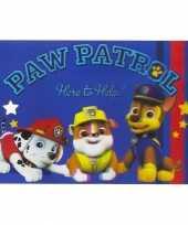 Goedkope placemat paw patrol d blauw