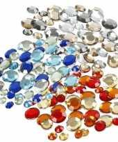 Goedkope plak diamantjes steentjes mix set stuks 10115655