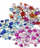 Goedkope plak diamantjes steentjes mix set stuks
