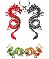 Goedkope plak tattoo draken stickers xxl