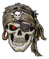 Goedkope plak tattoo piraten sticker xxl