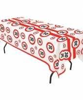 Goedkope plastic verkeersborden tafelkleed jaar 10066273
