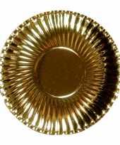 Goedkope platte kartonnen bordjes metallic goud