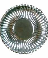 Goedkope platte kartonnen bordjes metallic zilver