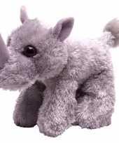 Goedkope pluche knuffel neushoorn grijs