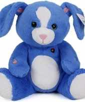 Goedkope pluche konijn knuffel blauw